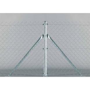 Poste de esquina, para malla de simple torsión de 1,5m. alto. 1,90m. longitud