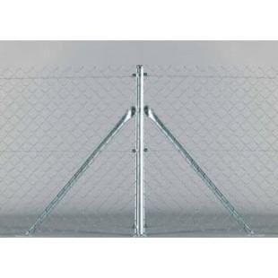 Poste de esquina, para malla simple torsión de 1m. alto. 1,37m. longitud