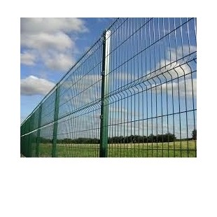 Kit completo de vallas, 2m Alto. Formado por paneles y postes. Longitud 10m lineales