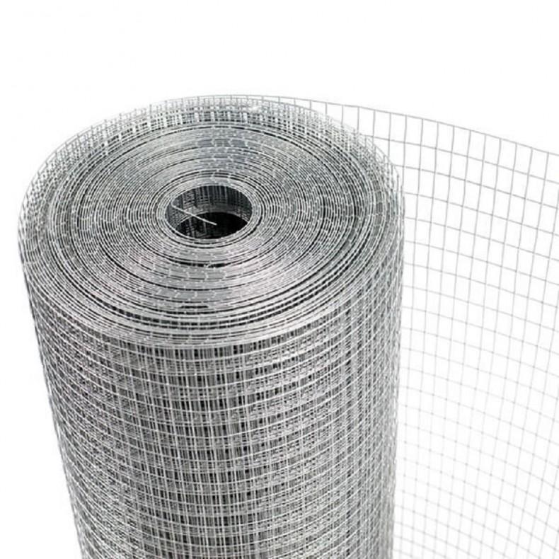 Malla electrosoldada 13x13mm galvanizada 1,003 X 25 mtrs.