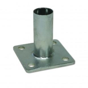 Bases para anclajes de postes para la gama de vallas simple torsión. Con tubo soldado para embutir.