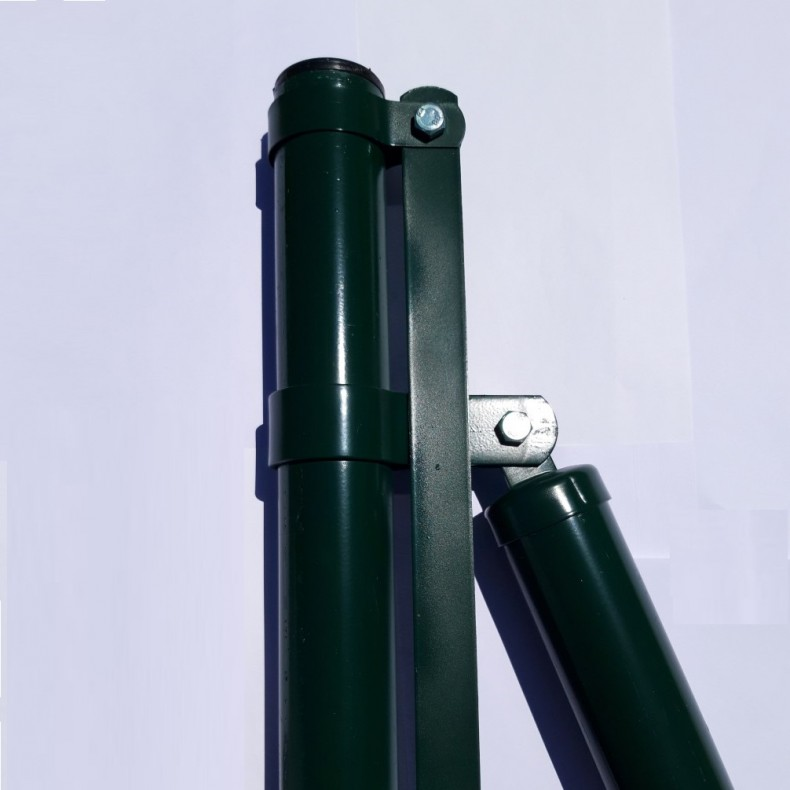 "Poste comienzo o extremo, para malla decorativa  modelo ""Jarditor"". de 1,5m de alta. 1,90m largo  total."