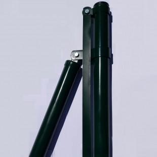 "Poste comienzo o extremo, para malla decorativa  modelo ""Jarditor"". de 2m de alta. 2,40m largo  total."