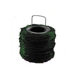 Alambre de espinos galvanizado y plastificado en en color Verde. Rollo de 250 metros.