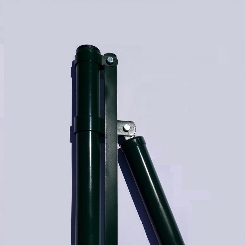 "Poste comienzo o extremo, para malla decorativa  modelo ""Jarditor"". de 1m de alta. 1,37m largo  total."