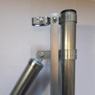 Poste de comienzo o final, para malla simple torsión de 1m. alto. 1,37m. longitud