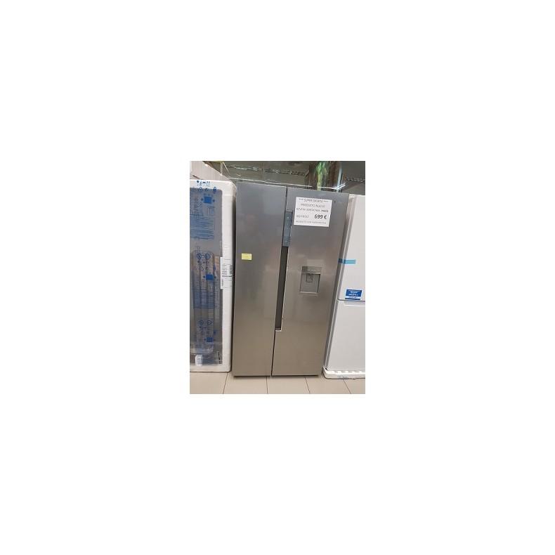 Frigorífico nuevo Haier con dispensador de agua, color acero inoxidable