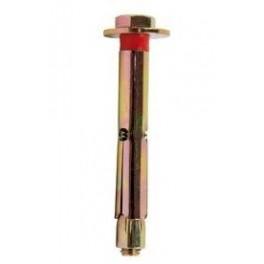 Tornillos tirafondos o espirros, para fijación de postes con base metálica.