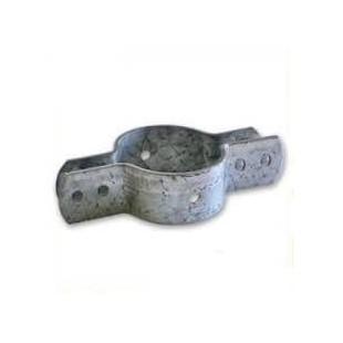 Abrazadera para postes de refuerzo en mallas de simple torsión.