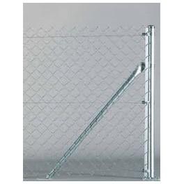 Poste de comienzo o final, para malla simple torsión de 2m. alto. 2,40m. longitud